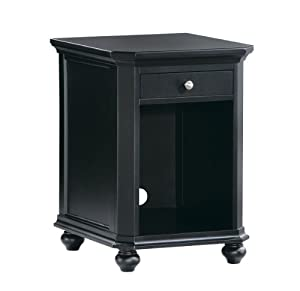 Amazon.com - Homelegance Hanna CPU 1-Drawer Cabinet in Black