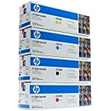 HP Genuine Cc530A, Cc531A, Cc532A, Cc533A Toner Set Bcym Lj Cp2025/Cm2320 Sealed In Retail Packaging