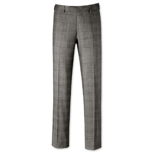 Charles Tyrwhitt Grey check tailored fit suit trouser (32W x 34L)