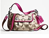 COACH Poppy Signature Sateen Groovy Handbag / Purse / Crossbody Style 13833