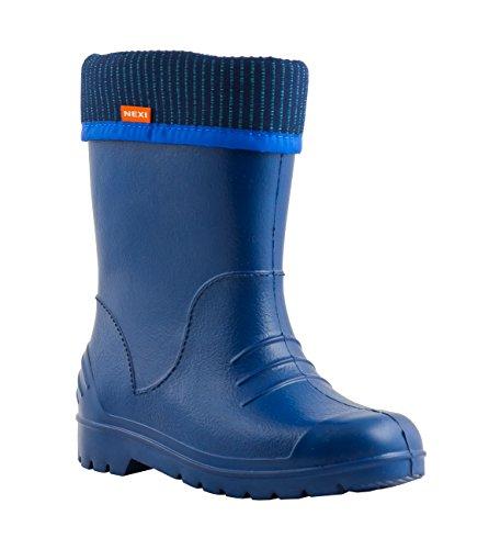 nexi-botas-de-material-sintetico-para-nino-color-azul-talla-32