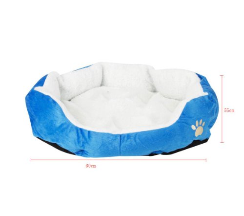 niceEshop  Comfortable Pets Dog Cat Puppy Kitten Soft Fleece Bed Pet House Nest Pad Mat Blue