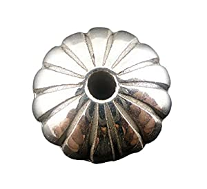 Housweety 50 Antiksilber Rondell Chrysantheme Perlen Beads 13x8mm