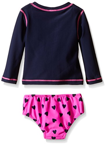 Osh kosh baby girls 39 long sleeve heart rash guard set for Baby rash guard shirt