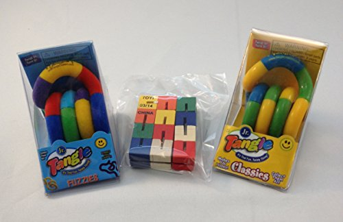 Set of 3 fidget toys tangle jr and toysmith new ebay for Tangle creations ebay