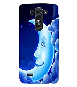 ColourCraft Funny Moon Design Back Case Cover for LG D722 K