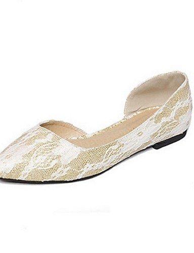 Scarpe casual donne di estate- Ballerine - Matrimonio / Ufficio e lavoro / Casual - Ballerina - Piatto - Sintetico / Pizzo - Rosa / Dorato , d'oro-us7.5 / eu38 / uk5.5 / cn38 , d'oro-us7.5 / eu38 / uk5.5 / cn38