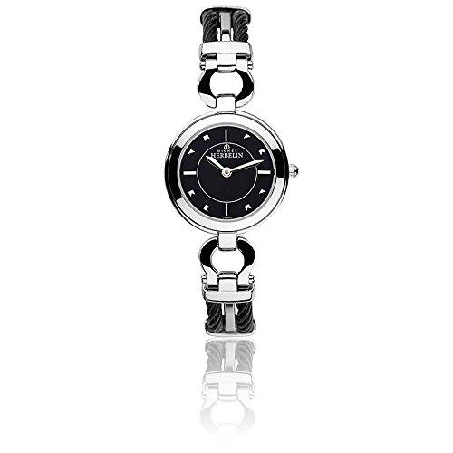 Michel Herbelin Cable Mujer Reloj Plata/Negro 17425/BNA14