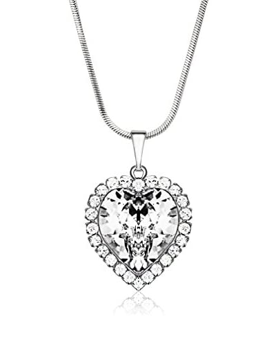 Bohemian Love Story Collana Crystal Strass Big Heart Bianco 42 cm