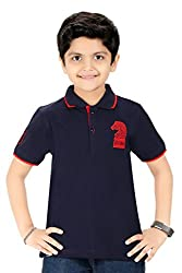 Triki Boys Plain Cotton Blue T-Shirts