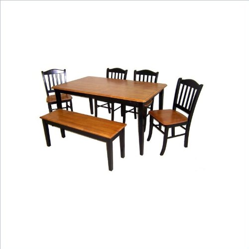 Boraam 86536 6-Piece Shaker Dining Room Set,