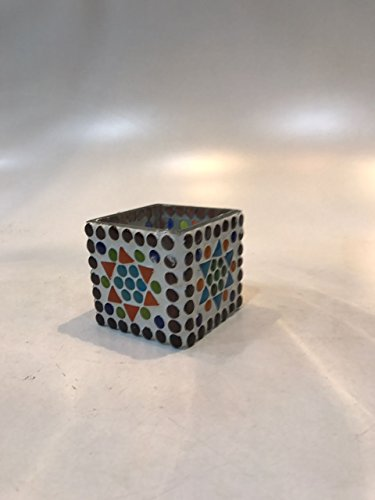 Dlite Crafts Multicolor Polka Design Home Decorative Votive Candle Holder, Set Of 2 PCs - B06XYJY672