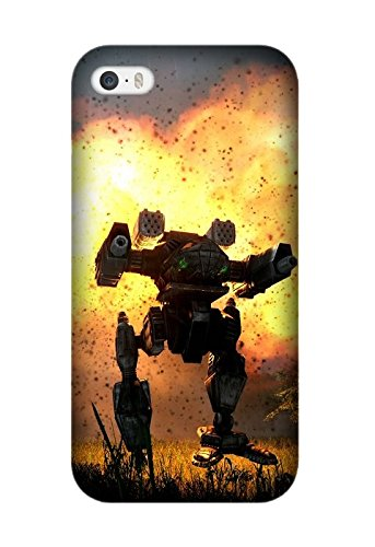 Exquisite Game MechWarrior Pattern Hard Phone Case Cover Protector Gifts for Iphone 5/5S