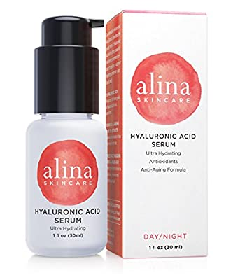 NEW. FINEST GRADE HYALURONIC ACID. Alina Skin Care Hyaluronic Acid Ultra Moisturizing Serum with macadamia seed oil, apple extracts and linoleic acid