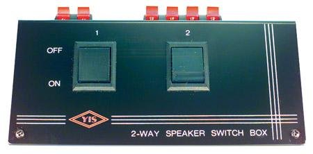 2 Pair Speaker Selector Switch Box