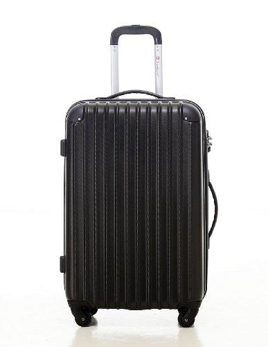 [トラベルハウス]Travelhouse スーツケース [M ブラック] キャリーバッグ TSA ファスナー 4輪