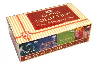 Darshan Incense Cone Collection - Assorted Fragrances - 12 Boxes of Incense Cones, 120 Cones Total (Variety Incense Cones compare prices)