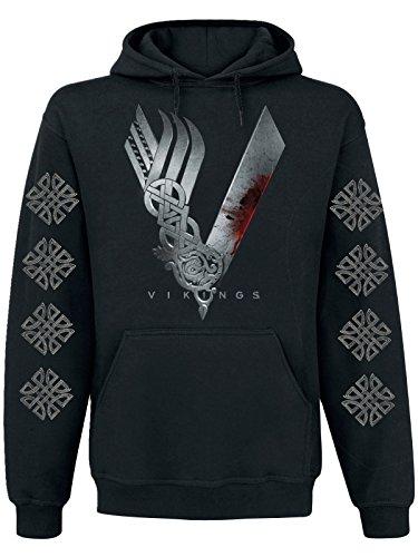 Vikings Icon Felpa con cappuccio nero M