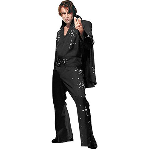 Men's Black Medium Elvis Costume