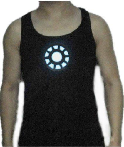 Tony Stark Light-Up Arc Reactor Led Iron Man Black Vest Prop Replica--Size L