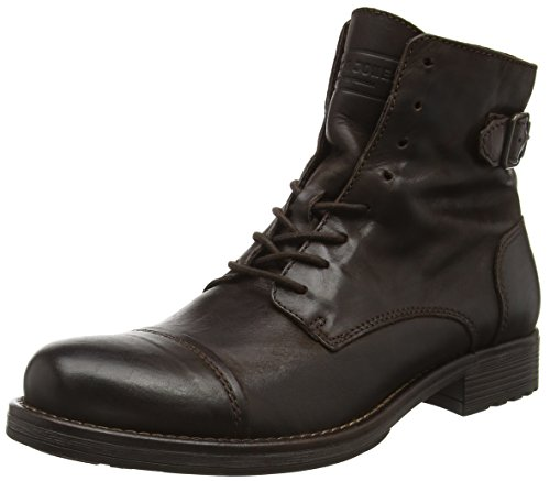 JACK & JONES Jfwsiti Leather Boot, Stivali Combat Uomo, Marrone (Brown Stone), 43 EU