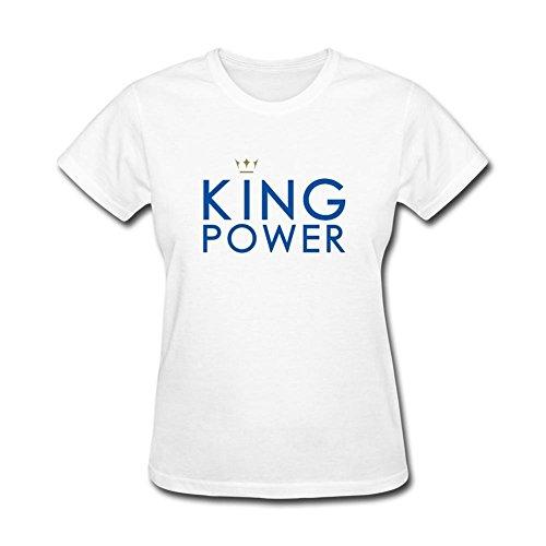 pk6b7d Leicester City Premier League Champions T Shirt per le donne White X-Large