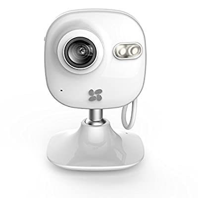 EZVIZ Mini 720p Indoor Wi-Fi Camera with 16GB SD Card and 12-month Subscription to 7-day Cloud Recording