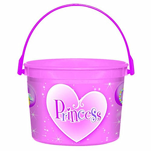 Amscan Sparkling Princess Plastic Bucket (1 Piece), Pink - 1