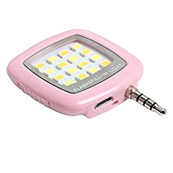 Photron FL100 Portable 16 LED Selfie Enhancing Dimmable Flash Fill-in Light, Torch (Pink)