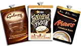 FLAVIA INDULGENCE PACK - For Use In Flavia Creation 400, Flavia S350 and Flavia Fusion Coffee Machine - 54 GALAXY CHOCOLATE SACHETS, 20 FABULOUS FROTH ORIGINAL SACHETS AND 20 MARS SWIRL SACHETS - LOW DELIVERY COSTS WITH FREE DELIVERY ON ORDERS OVER £ 50.