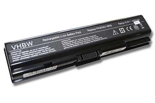 vhbw Li-Ion Batterie 4400mAh 10.8V pour ordinateur portable, Notebook Toshiba Satellite A210-Serie, A215, A215-Serie, A300, A300-Serie comme PABAS097.