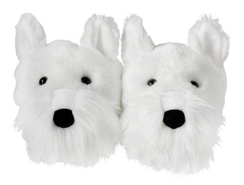 Aroma Home Fun For Feet White Westie Dog Slippers