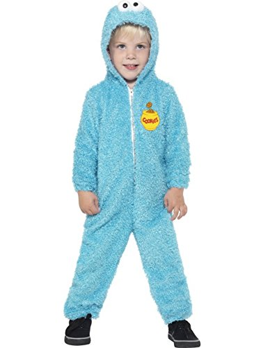 Sesame Street, Cookie Monster Costume, Toddler Age 3-4, Licensed Fancy Dress