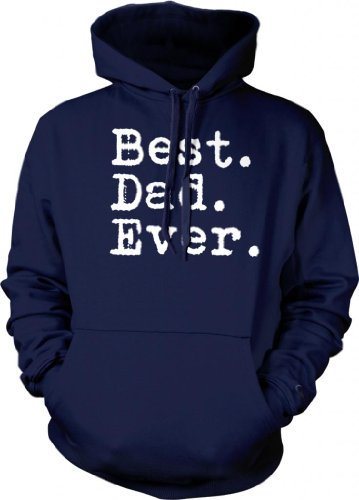 Best. Dad. Ever. Mens Sweatshirt, Father'S Day Best Dad Ever Pullover Hoodie, Large, Navy front-572147