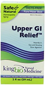 King Bio Natural Medicine Homeopathic Remedies for Upper Gi Relief, 2 Fluid Ounce