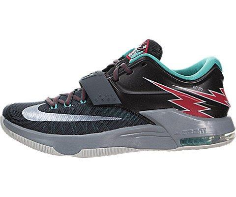 Nike Men's KD VII Thunderbolt Basketball Shoes-Classic Charcoal/Dove gray-13