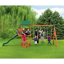 Sportspower New Timber Play II With Balcony Swing Set