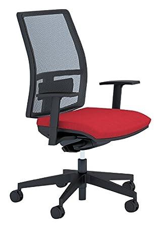 The trébol Group más silla alta, Poliuretano, Rojo, 74x 74x 112cm