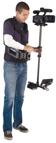 "Tiffen Steadicam Pilot-AA Camera Stabilization System (Sled, Vest, Arm, Back Pack Transport, 5.8"" LCD, AA Battery Mount)"