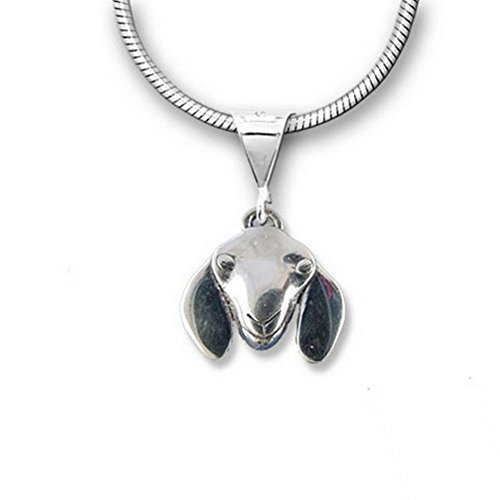 Sterling Silver Nubian Goat Pendant