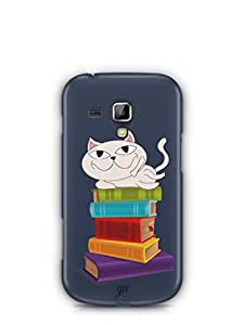 YuBingo Cat on Books Mobile Case Back Cover for Samsung Galaxy S Duos 2