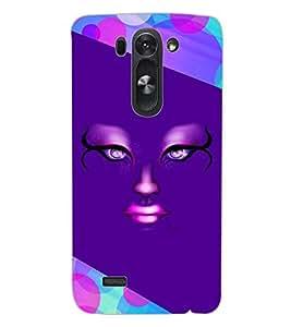 ColourCraft Creative Face Design Back Case Cover for LG G3 S