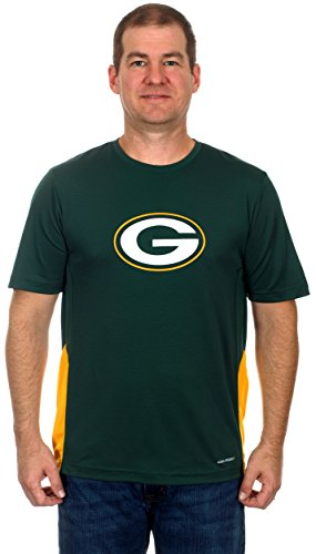 Green Bay Packers Men's Breathable Short Sleeve Athletic T-Shirt (Medium) (Green Bay Packers Quad Chair compare prices)