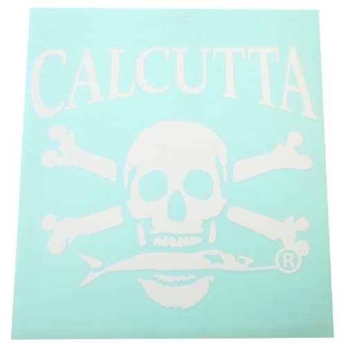 Calcutta Large Die Cut Decal, White, 9 1/2  Inch by 9 1/2  Inch, 6 Pack