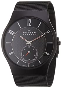 Skagen Men's Classic 805XLTBB Black Stainless-Steel Quartz Watch with Black Dial