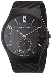 Skagen Men's Classic 805XLTBB Black Stainless-Steel Quartz Watch with Black Dial