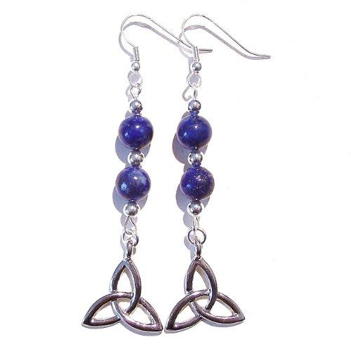 Celtic Knot Earrings w/ Lapis Lazuli