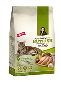 RACHAEL RAY NUTRISH Natural Cat Food, Real Chicken & Brown Rice, 3 lb bag