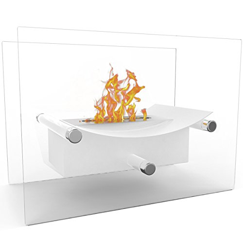 Elite Warmth Arkon Ventless Tabletop Bio-Ethanol Fireplace White