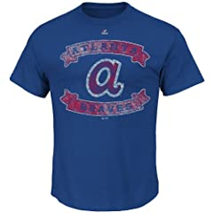 Atlanta Braves Cooperstown Gold Glove Caliber Baseball Tee Shirt by Majestic by Majestic